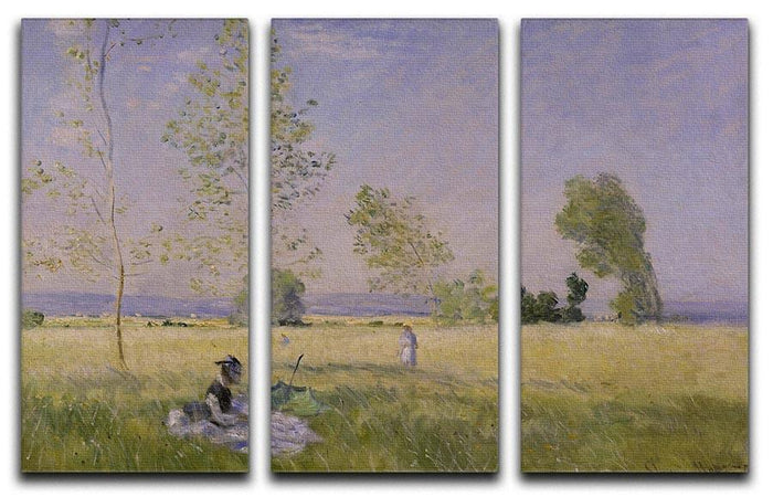 Summer by Monet Split Panel Canvas Print