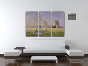 Summer by Monet Split Panel Canvas Print - Canvas Art Rocks - 4