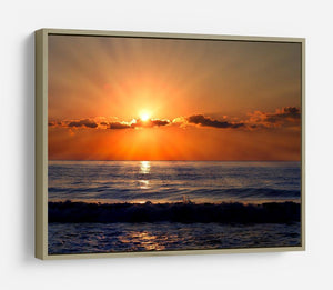 Sun rays over the bulgarian Black sea HD Metal Print