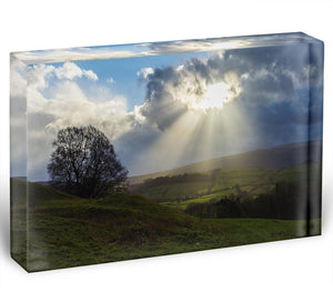Sunlight on the Lake District Acrylic Block - Canvas Art Rocks - 1