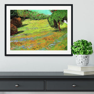Sunny Lawn in a Public Park by Van Gogh Framed Print - Canvas Art Rocks - 1