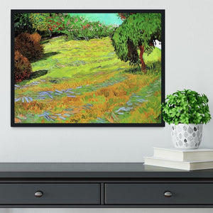 Sunny Lawn in a Public Park by Van Gogh Framed Print - Canvas Art Rocks - 2