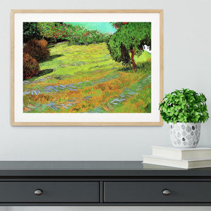 Sunny Lawn in a Public Park by Van Gogh Framed Print - Canvas Art Rocks - 3