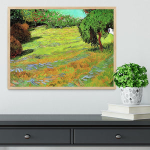 Sunny Lawn in a Public Park by Van Gogh Framed Print - Canvas Art Rocks - 4