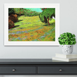 Sunny Lawn in a Public Park by Van Gogh Framed Print - Canvas Art Rocks - 5