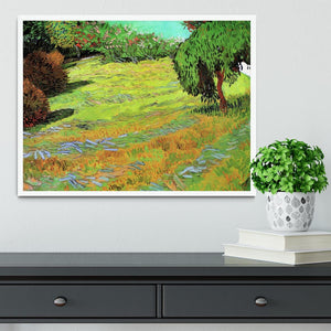 Sunny Lawn in a Public Park by Van Gogh Framed Print - Canvas Art Rocks -6