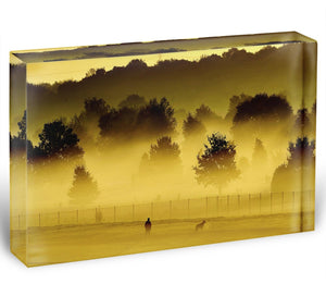 Sunrise and Mist Acrylic Block - Canvas Art Rocks - 1