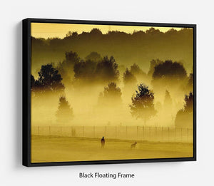 Sunrise and Mist Floating Frame Canvas - Canvas Art Rocks - 1