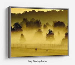 Sunrise and Mist Floating Frame Canvas - Canvas Art Rocks - 3