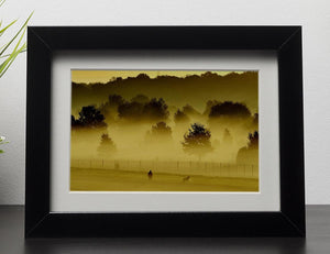 Sunrise and Mist Framed Print - Canvas Art Rocks - 1