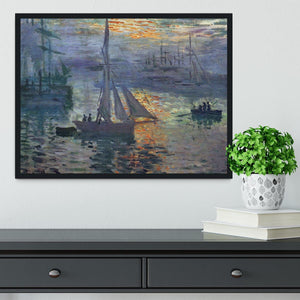 Sunrise at Sea by Monet Framed Print - Canvas Art Rocks - 2