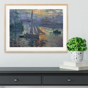 Sunrise at Sea by Monet Framed Print - Canvas Art Rocks - 3
