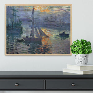 Sunrise at Sea by Monet Framed Print - Canvas Art Rocks - 4