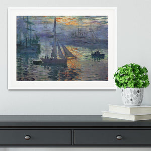 Sunrise at Sea by Monet Framed Print - Canvas Art Rocks - 5