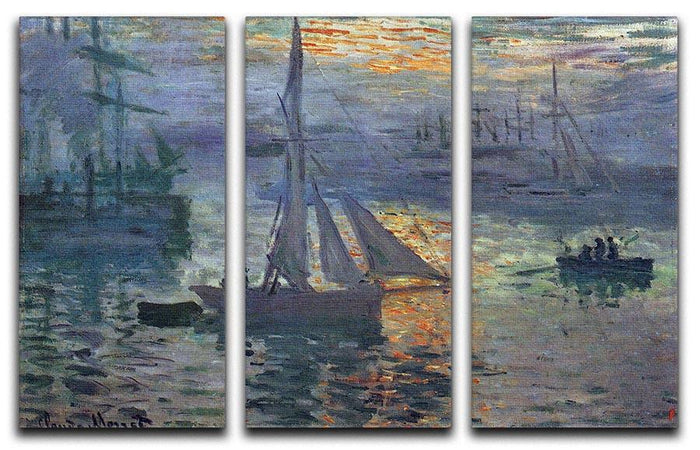 Sunrise at Sea by Monet Split Panel Canvas Print
