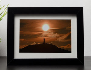 Sunrise behind Castle Hill Framed Print - Canvas Art Rocks - 1
