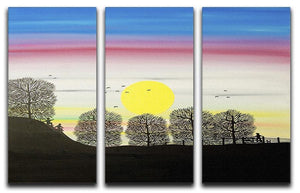 Sunrise by Gordon Barker 3 Split Panel Canvas Print - Canvas Art Rocks - 1
