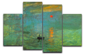Sunrise by Monet 4 Split Panel Canvas  - Canvas Art Rocks - 1