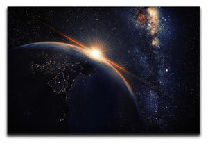 Sunrise seen from space Canvas Print or Poster  - Canvas Art Rocks - 1