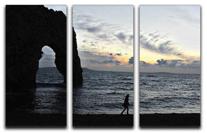 Sunset at Durdle Door 3 Split Panel Canvas Print - Canvas Art Rocks - 1