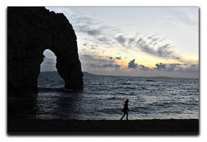Sunset at Durdle Door Canvas Print or Poster - Canvas Art Rocks - 1