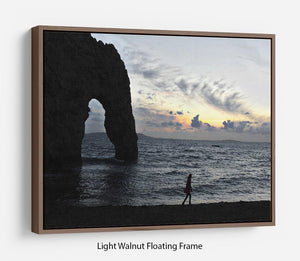 Sunset at Durdle Door Floating Frame Canvas - Canvas Art Rocks 7