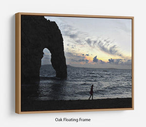 Sunset at Durdle Door Floating Frame Canvas - Canvas Art Rocks - 9