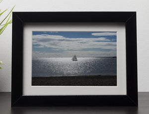 Sunshine on the sea Framed Print - Canvas Art Rocks - 1