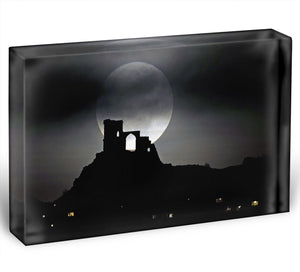 Super Moon at Mow Cop Acrylic Block - Canvas Art Rocks - 1