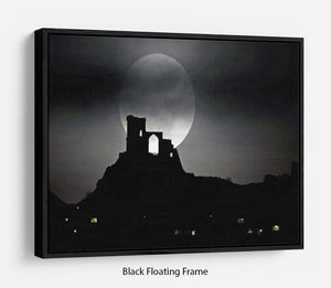Super Moon at Mow Cop Floating Frame Canvas - Canvas Art Rocks - 1