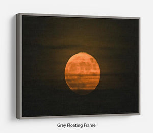 Super moon Floating Frame Canvas - Canvas Art Rocks - 3