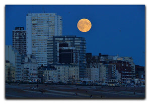 Super moon over Brighton Canvas Print or Poster - Canvas Art Rocks - 1
