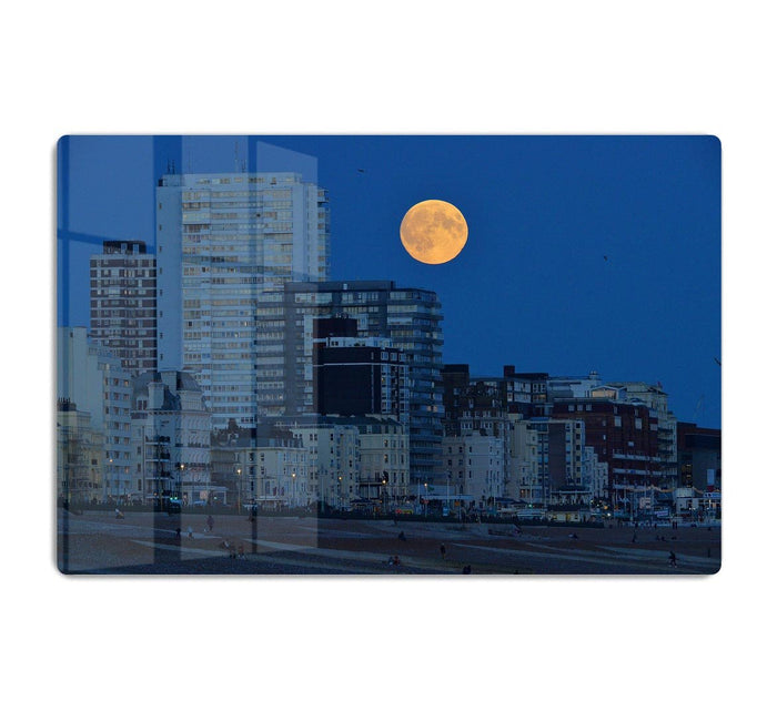 Super moon over Brighton HD Metal Print