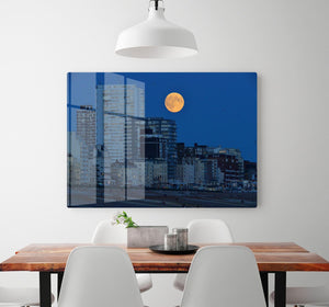 Super moon over Brighton HD Metal Print - Canvas Art Rocks - 2