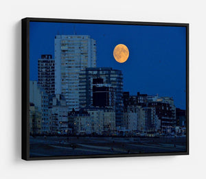Super moon over Brighton HD Metal Print - Canvas Art Rocks - 6