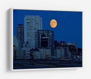 Super moon over Brighton HD Metal Print - Canvas Art Rocks - 7