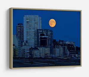 Super moon over Brighton HD Metal Print - Canvas Art Rocks - 8
