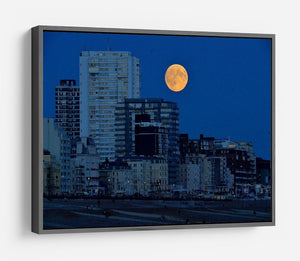 Super moon over Brighton HD Metal Print - Canvas Art Rocks - 9