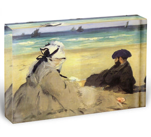 Sur la plage 1873 by Manet Acrylic Block - Canvas Art Rocks - 1