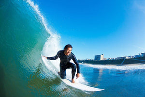 Surfer On Ocean Wave Wall Mural Wallpaper - Canvas Art Rocks - 1