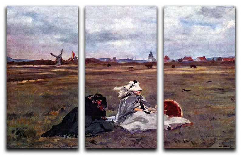 Swallows by Manet 3 Split Panel Canvas Print - Canvas Art Rocks - 1