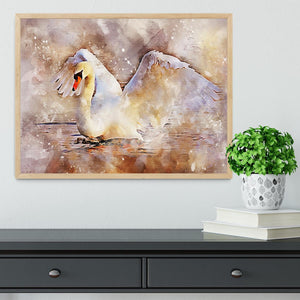 Swan Painting Framed Print - Canvas Art Rocks - 4