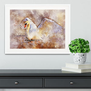 Swan Painting Framed Print - Canvas Art Rocks - 5
