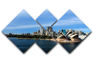 Sydney Australia City Skyline 4 Square Multi Panel Canvas  - Canvas Art Rocks - 1