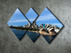 Sydney Australia City Skyline 4 Square Multi Panel Canvas  - Canvas Art Rocks - 2