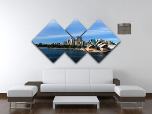 Sydney Australia City Skyline 4 Square Multi Panel Canvas  - Canvas Art Rocks - 3