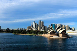 Sydney Australia City Skyline Wall Mural Wallpaper - Canvas Art Rocks - 1