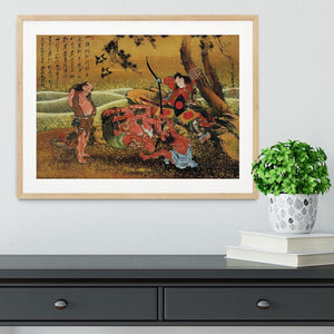 Tametomo and the demons by Hokusai Framed Print - Canvas Art Rocks - 3