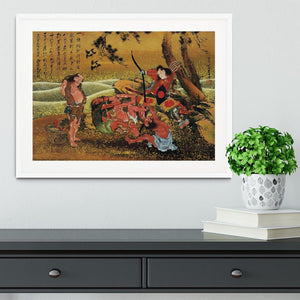 Tametomo and the demons by Hokusai Framed Print - Canvas Art Rocks - 5