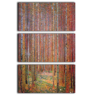 Tannenwald I by Klimt 3 Split Panel Canvas Print - Canvas Art Rocks - 1